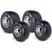 Juego Neumáticos MG SC Amarillo CIK FIA NEW!! MINI, MONDOKART