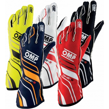Gloves OMP ONE-S Autoracing Fireproof, mondokart, kart, kart