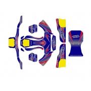 Kit Adesivi CKR + Pianale Baby Mini 60cc, MONDOKART, kart, go