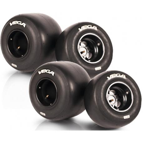 Juego Neumáticos Set Vega Blanca XM3 CIK PRIME NEW, MONDOKART