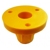 Support for Steering Wheel Nylon Yellow Top-Kart