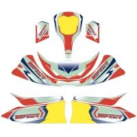 Designkit Topkart Kid Kart Rot/Blau Comer 50cc