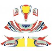 Kit adesivi Topkart Kid Kart Rosso/Blu Comer 50cc, MONDOKART
