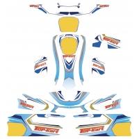 Kit Adhesivos Top Kart Twister 125cc KZ KF FP7 DUO EVO