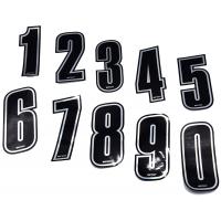 Numero de Course Adhesif RACING ARGENT TOP-KART