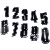Silvered Racing Top-Kart Numbers