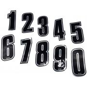Numeri adesivi argentati Racing TopKart, MONDOKART, kart, go