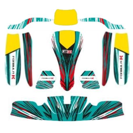 Aufkleber Kit KG 506 IPK Formula K - NEW 2020, MONDOKART, kart