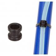 Anello Alluminio Foro 9mm Nero per Fissaggio Tubo Benzina