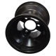 "Front Rim 130mm ""RACES"" Standard (with screws) TOP-KART BLACK"