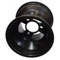 """Felge Vorne 130mm-Standard """"RACES"""" (mit Schrauben) TOP-KART BLACK EDITION"""