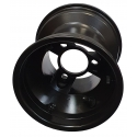 "Front Rim 130mm ""RACES"" Standard (with screws) TOP-KART BLACK EDITION"