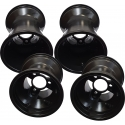 "Aluminium Rims Wheels Set Rain 130-180 ""RACES"" (standard fitting) TOP-KART BLACK EDITION"