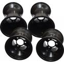 "Aluminium Rims Wheels Set Rain 130-180 ""RACES"" (standard fitting) TOP-KART BLACK EDITION"