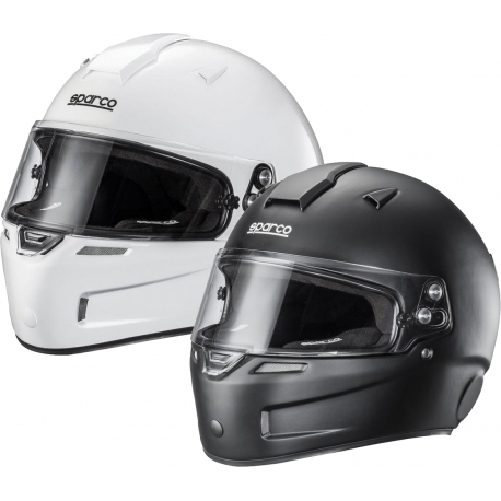 Casco Sparco KF-5W Fiberglass (bianco o nero), MONDOKART, kart