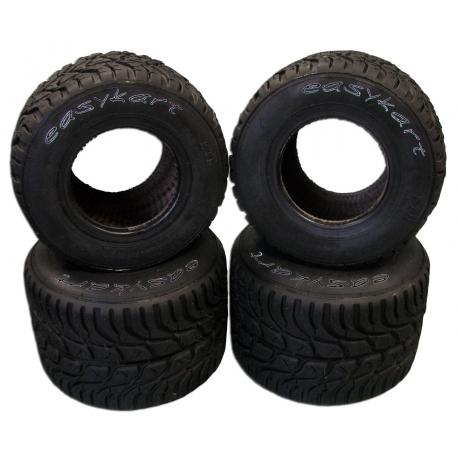 Set Neumáticos EASYKART lluvia 50/60, MONDOKART, kart, go kart