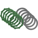 Kit RACING (MMC-Aramid) Dischi Frizione (Guarniti e Lisci) per motori TM KZ