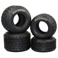 Kart Reifen Set Bridgestone Regen Rain YPW Minirok NEW!