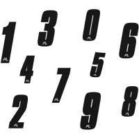 Numbers Stickers Freeline BirelArt NEW !!