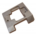 Engine Mount WITHOUT HOLES Aluminium 28mm/30mm Top-Kart