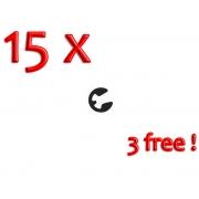 Clip Aiguille Conique Seeger - PACK 12 + 3 GRATUITE, MONDOKART