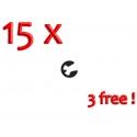 Clip Aiguille Conique Seeger - PACK 12 + 3 GRATUITE