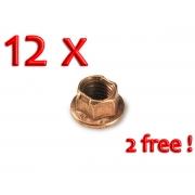 Radmutter CIK M8 selbstsichernd Kupfer Felgen - PACK 10 + 2