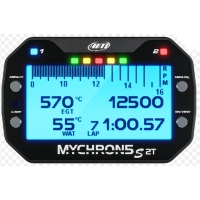 """AIM MyChron 5 2T - GPS Lap Timer (2 temperatures) - With WATER + GAS Probe - NEW VERSION """"S"""" !"""