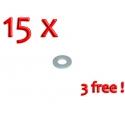 "Washer (Pin) ""Half Notch"" - PACK 12 + 3 FREE"