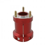 Rear hub anodized aluminum 50 / 95-8, MONDOKART, For KF - KZ