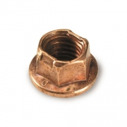 Nut flanged copper M8 for wheel rims, MONDOKART