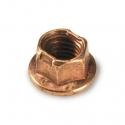 Nut flanged copper M8 for wheel rims, mondokart, kart, kart