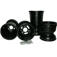 "Magnesium Rims Wheels Set ""Black"" MONDOKART"