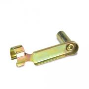 Clip 6x36mm verzinktem Gold, MONDOKART, Knopf, Gabeln, Federn