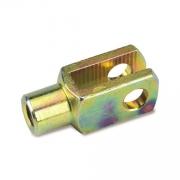 Gabel M6 24mm Bremsstange Stahl, MONDOKART, Knopf, Gabeln