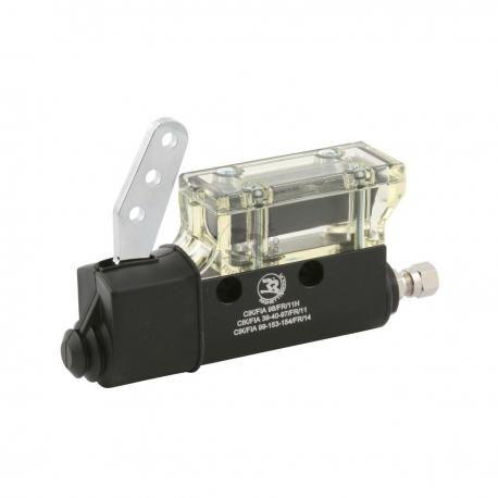 Anodized brake pump with recovery tank, mondokart, kart, kart