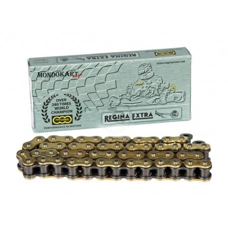 Chain REGINA step HK 428 for 125cc KZ, MONDOKART, Chains KZ