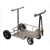 "Kart Trolley ""Chrome"" with BIG wheels"