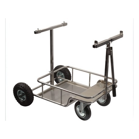 "Kart Trolley ""Chrome"" with BIG wheels, MONDOKART, Kart Trolleys"