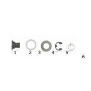 Pin Brake Disc complete Disk V04 - New Age CRG, MONDOKART