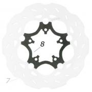 V04 rear disc brake flange CRG, MONDOKART