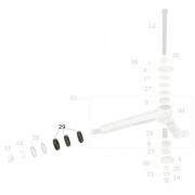 Spacer pivot spindle D25 8mm black CRG, MONDOKART