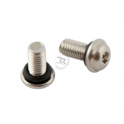 Safety screw for wheel rims rounded M5 (oring excluded)