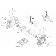 Albero Motore completo EKL BMB Easykart 60cc, MONDOKART