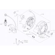 Support connector ignition casing BMB Easykart, MONDOKART