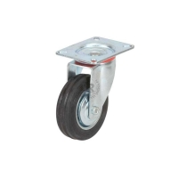 Swivel front wheel for trolley