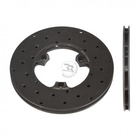 Disque de frein ventilé à l'avant droit percé 160x12mm (fonte)