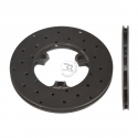Disc ventilated front brake drilled Right 160x12mm (cast iron)