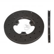 Disc ventilated front brake drilled Left 160x12mm (cast iron)