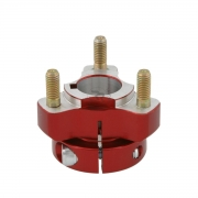 Rear wheel hub 25mm X 40mm Red, MONDOKART, For babykart (25mm